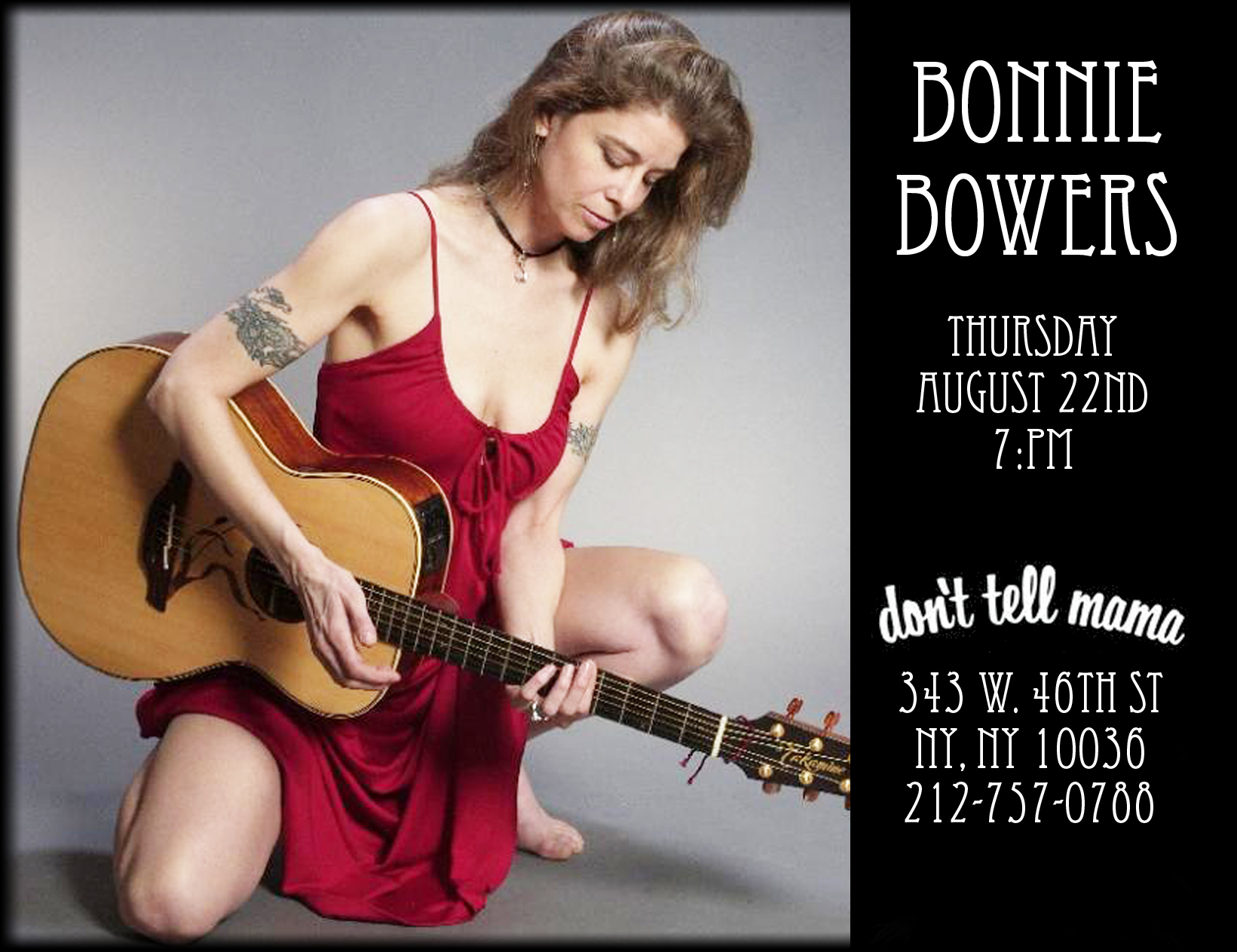 Bonnie Bowers live at Dont Tell Mama's New York City