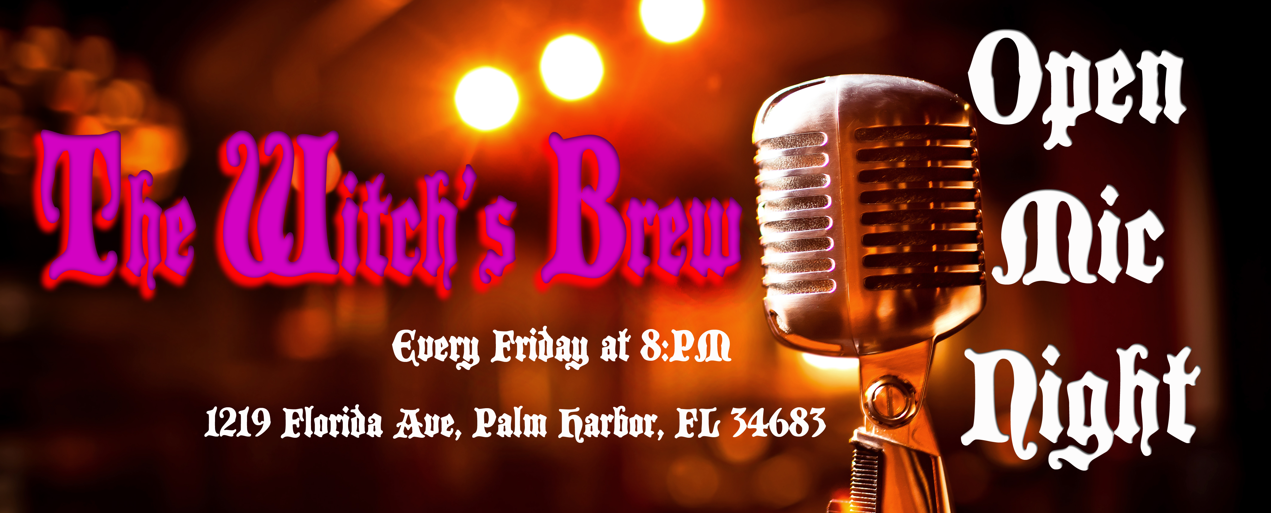 the witch's brew open mic night hosted by bonnie bowers